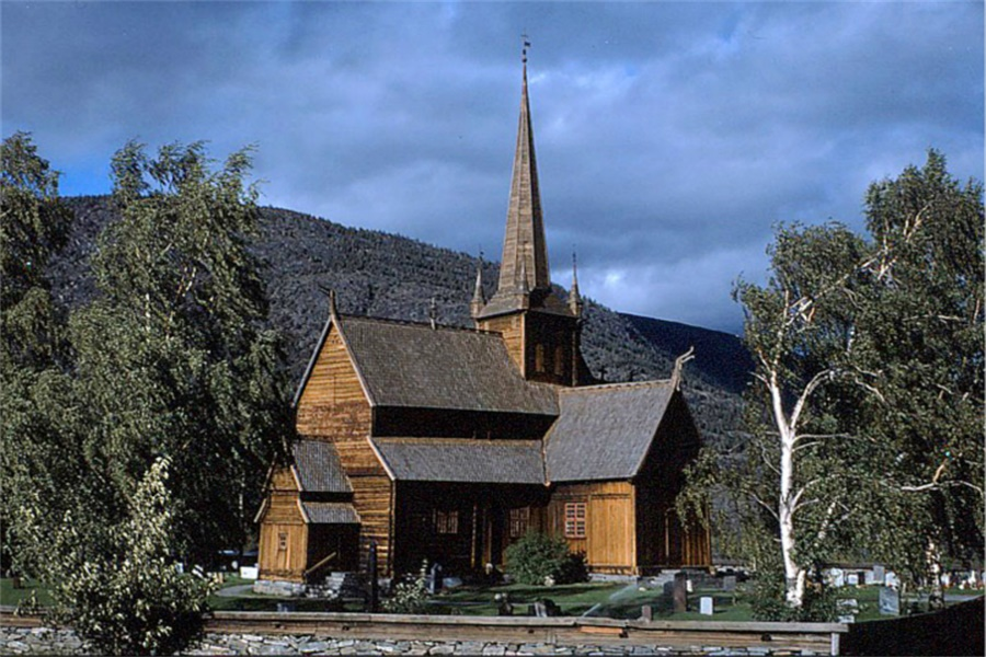 洛姆木教堂 Lom Stave Church