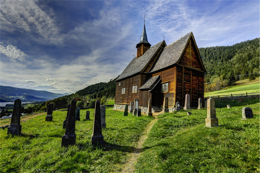 罗门木教堂 Lomen Stave Church